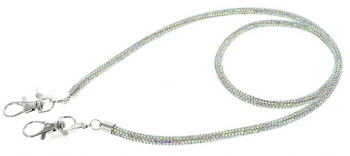 Glamorous Mask Straps - AB Crystal or Multi Colored Crystals