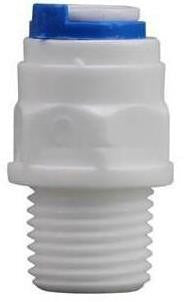 "Male Straight Adaptor 1/4"" to 6mm"