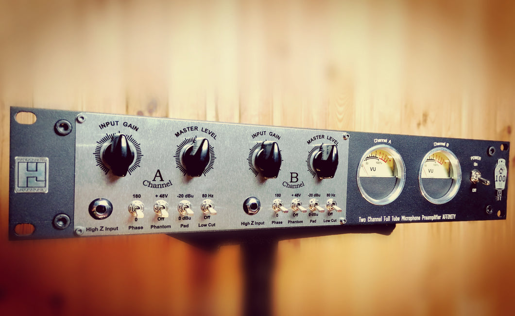 Affinity - Two Channel All Tube Microphone Preamplifier