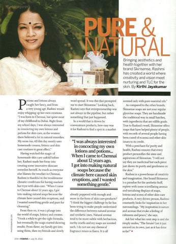 skinsense in womens magazine Femina