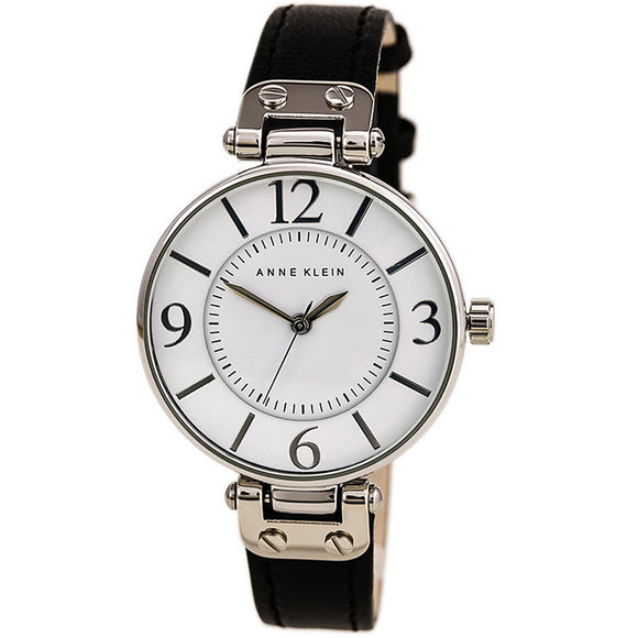 Anne Klein Leather Ladies Watch 10/9169WTBK - Watch it! Pte Ltd