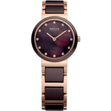 Bering Ceramic 11422-765 Brown 22 mm Women's Watch - Watch it! Pte Ltd