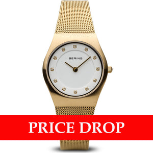 Bering Classic 11927-334 Brushed Gold 27 mm Women's Watch - Watch it! Pte Ltd