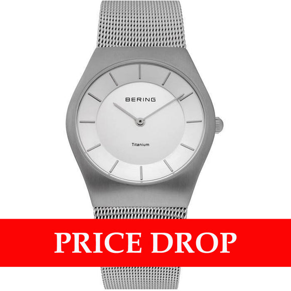 Bering Classic 11935-000 Titanium 35 mm Men's Watch - Watch it! Pte Ltd