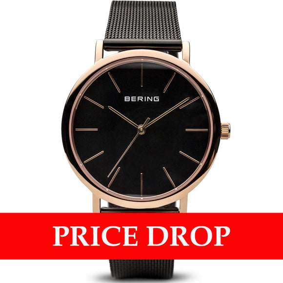 Bering Classic 13436-166 Polished Rose Gold 36mm Women's Watch - Watch it! Pte Ltd