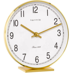 Hermle Fremont Brass Table Clock - Made In Germany - Watch it! Pte Ltd
