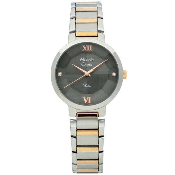 Alexandre Christie Passion Grey Dial Ladies Watch 2616LHBTRBA - Watch it! Pte Ltd