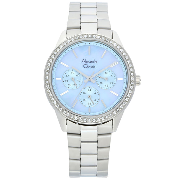 Alexandre Christie Stainless Steel Multifunction Ladies Watch 2713BFBSSMU - Watch it! Pte Ltd