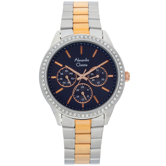 Alexandre Christie Two Tone Multifunction Ladies Watch 2713BFBTRMU - Watch it! Pte Ltd