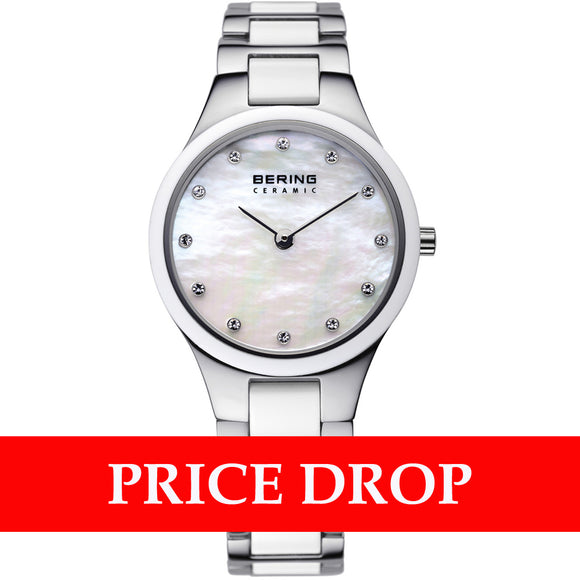 Bering Ceramic 32327-701 White 27 mm Women's Watch - Watch it! Pte Ltd