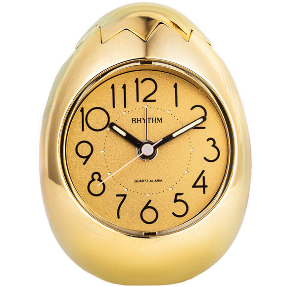 Rhythm Golden Egg Design Alarm Clock - Watch it! Pte Ltd