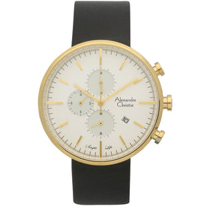 Alexandre Christie Gold Plated Chronograph Mens Watch 6415MCLGPSL - Watch it! Pte Ltd