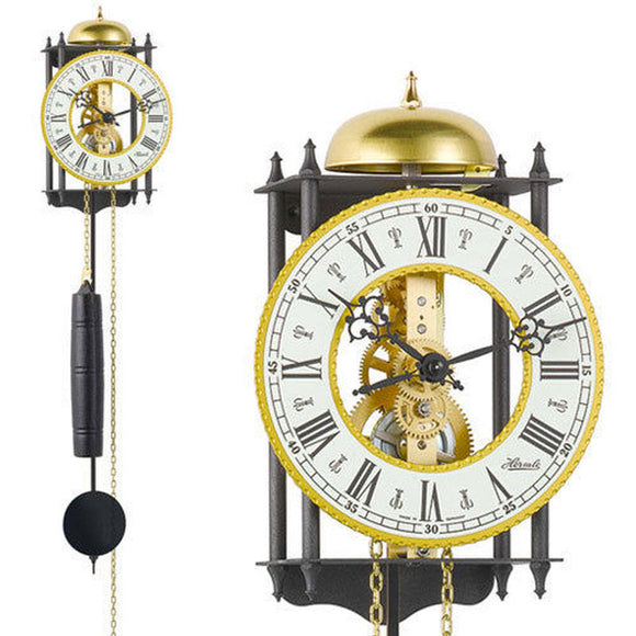 Hermle Skeleton Gold/Black Mechanical Wall Clock - Watch it! Pte Ltd