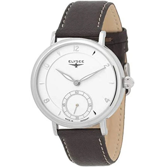Elysee Mechanical Brown Leather Men Watch 70931 - Watch it! Pte Ltd