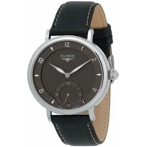 Elysee Mechanical Brown Leather Men Watch 70932 - Watch it! Pte Ltd