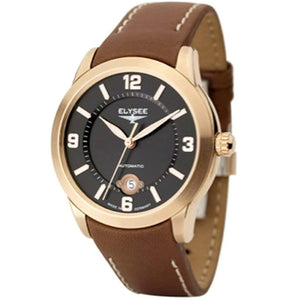 Elysee Mythos VI Automatic Brown Leather Men Watch 70936 - Watch it! Pte Ltd