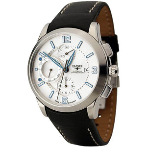 Elysee Mythos V Automatic Black Leather Men Watch 70937 - Watch it! Pte Ltd