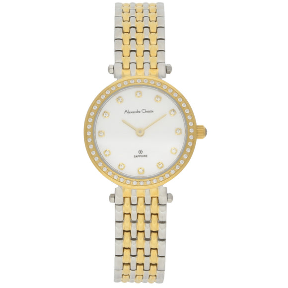 Alexandre Christie Two Tone Ladies Watch 8435LHBTGSLDR - Watch it! Pte Ltd