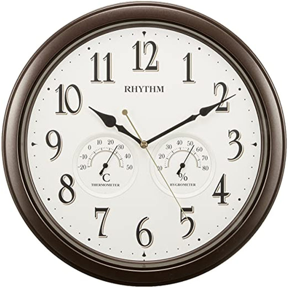 Rhythm Wall Clock with Temperature and Humidity 8MGA37SR06 - Watch it! Pte Ltd