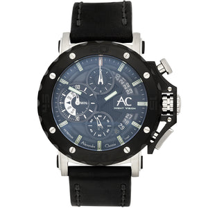 Alexandre Christie Night Vision Chronograph Mens Watch 9201NMCLTBBA - Watch it! Pte Ltd