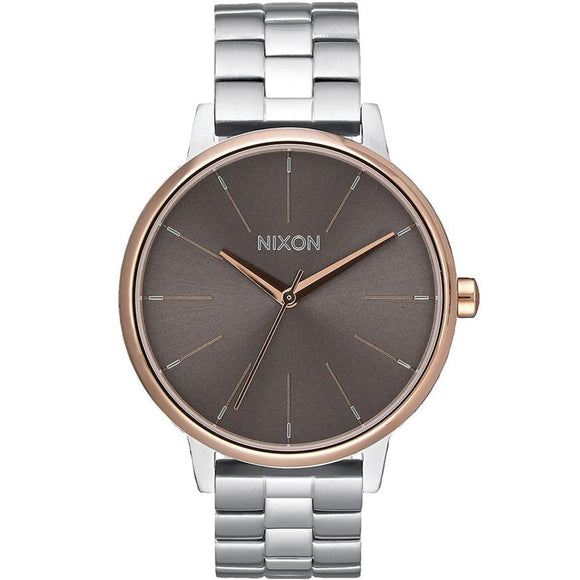 Nixon KENSINGTON A0992215 Silver/Rose Gold - Watch it! Pte Ltd