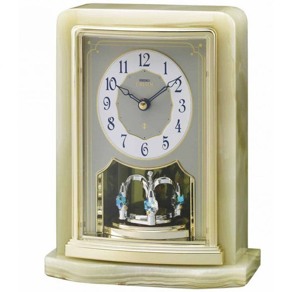 Seiko Emblem Marble Mantel Clock AHW465G - Watch it! Pte Ltd