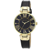 Anne Klein Leather Ladies Watch AK/1396BMBK - Watch it! Pte Ltd