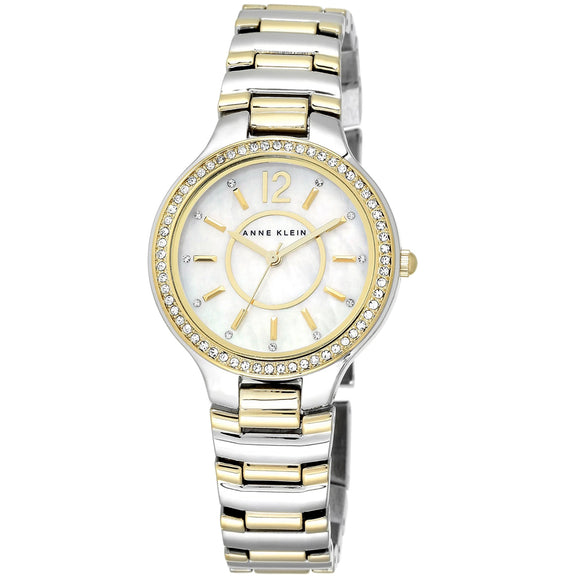 Anne Klein Swarovski Crystal-Accented Ladies Watch AK/1855MPTT - Watch it! Pte Ltd