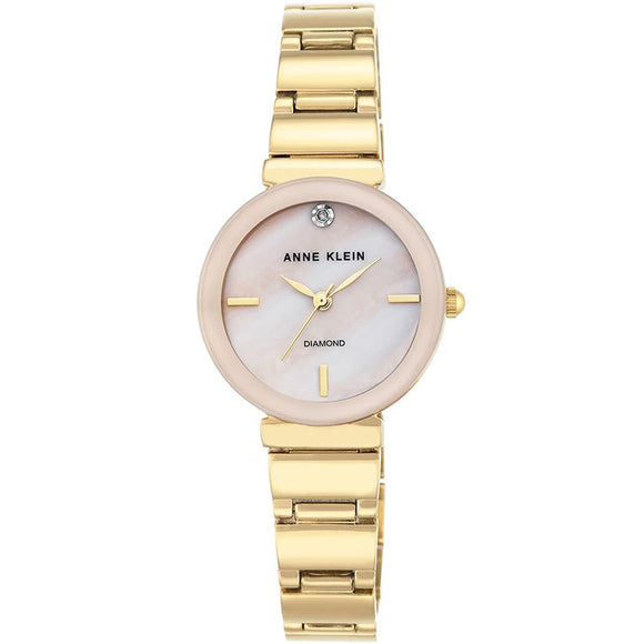 Anne Klein Mother of Pearl Ladies Watch AK/2434PMGB - Watch it! Pte Ltd