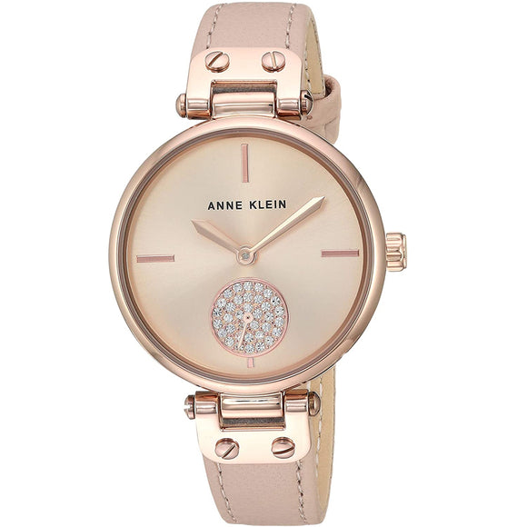 Anne Klein Leather Ladies Watch AK/3380RGLP - Watch it! Pte Ltd