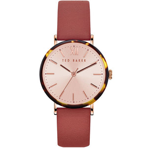 Ted Baker Womans PHYLIPA Tortoise Detail Watch BKPPHF914 - Watch it! Pte Ltd