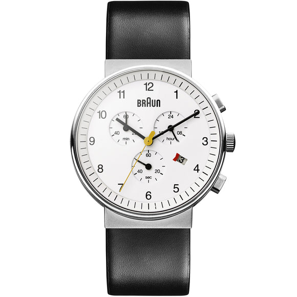 Braun Gents BN0035 Classic Chronograph Watch with Leather Strap - Watch it! Pte Ltd