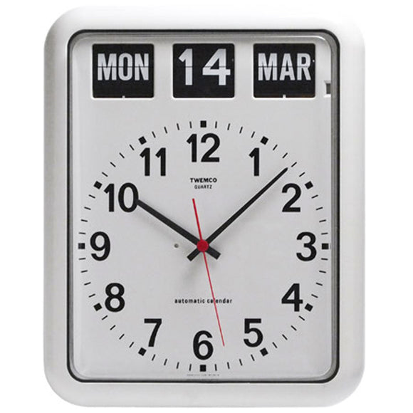 Twemco BQ-12A Flip Clock (White) - Watch it! Pte Ltd