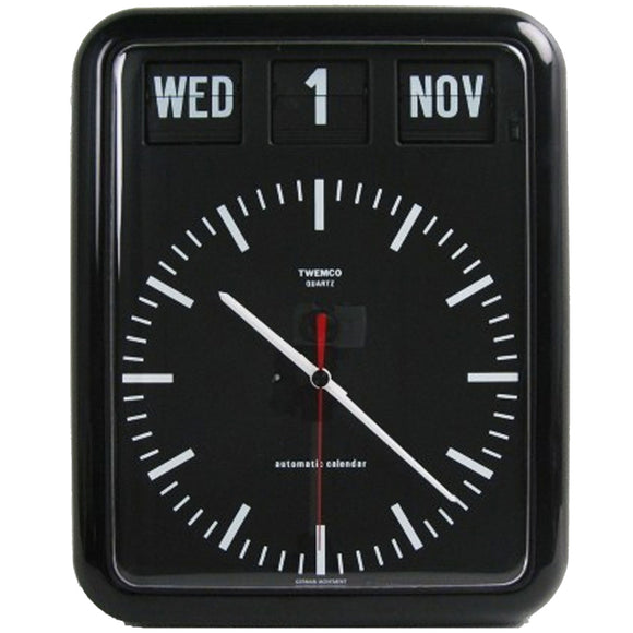 Twemco BQ-12B Flip Clock (Black) - Watch it! Pte Ltd