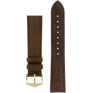 Hirsch CAMELGRAIN No Allergy Leather Watch Strap (Gold Buckle) - Watch it! Pte Ltd
