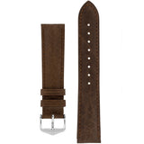 Hirsch CAMELGRAIN No Allergy Leather Watch Strap (Silver Buckle) - Watch it! Pte Ltd