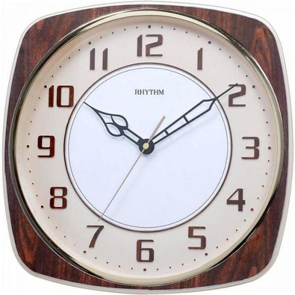 Rhythm Vintage Style Wall Clock Brown CMG509NR06 - Watch it! Pte Ltd