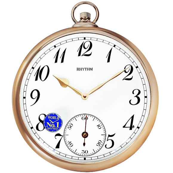 Rhythm Pocket Watch Design Wall Clock CMG752NR13