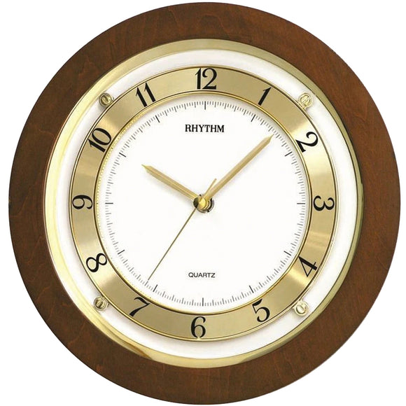 Rhythm Wooden Wall Clock CMG975NR06 - Watch it! Pte Ltd