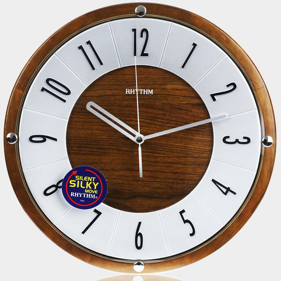 Rhythm Wooden Wall Clock CMG991NR06 - Watch it! Pte Ltd