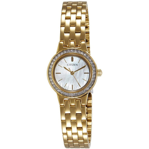 Citizen Quartz Dress Mother Of Pearl Dial Women's Watch EJ6102-56D - Watch it! Pte Ltd
