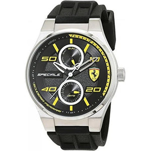 Ferrari Scuderia Men's Black Rubber Strap Watch 0830355 - Watch it! Pte Ltd