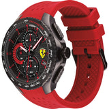 Ferrari Scuderia Pista Chronograph Red Silicon Watch 0830727 - Watch it! Pte Ltd