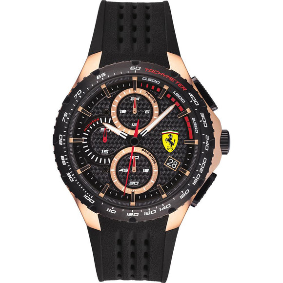 Ferrari Scuderia Pista Chronograph Rose Gold Watch 0830728 - Watch it! Pte Ltd