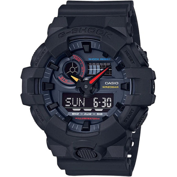 "Casio G-SHOCK Black x Neon Series ""Neo Tokyo"" GA700BMC-1ADR - Watch it! Pte Ltd"