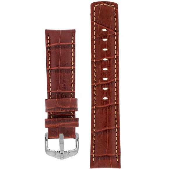Hirsch GRAND DUKE Water-Resistant Alligator Embossed Sport Watch Strap - Watch it! Pte Ltd
