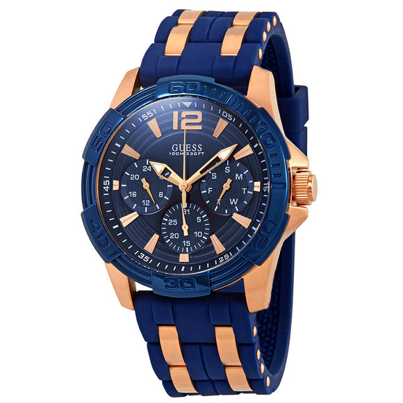 Guess GWW0366G4 Oasis Blue Dial Two-Tone Multifunction Men's Watch - Watch it! Pte Ltd