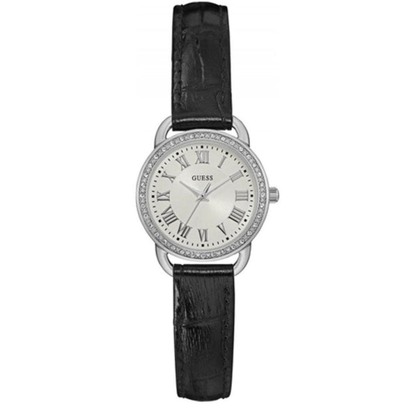 Guess GWW0959L2 Fifth Ave Analog Black Leather Strap - Watch it! Pte Ltd