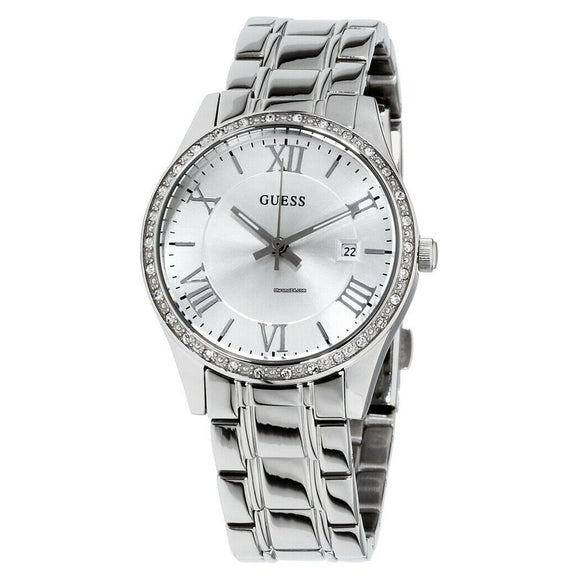 Guess GWW0985L1 Greenwich Crystal Silver-tone Ladies Watch - Watch it! Pte Ltd