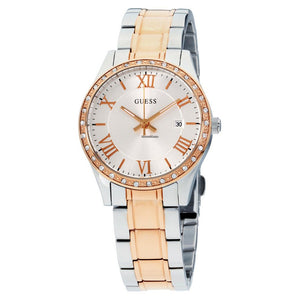 Guess GWW0985L3 Greenwich Crystal Two-tone Ladies Watch - Watch it! Pte Ltd